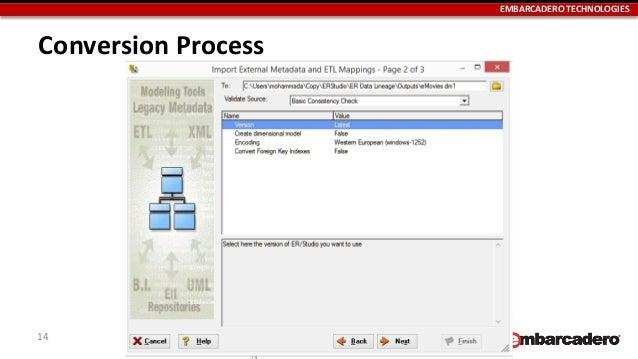 Migrating erwin models to erstudio plan convert validate embarcadero technologies conversion process 14 ccuart Images