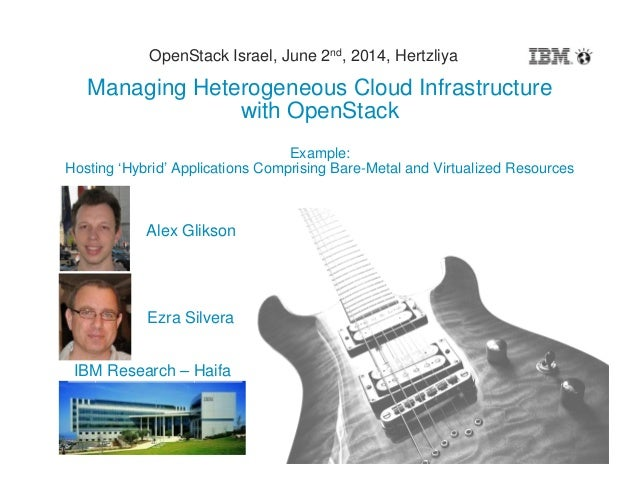 1 Managing Heterogeneous Cloud Infrastructure with OpenStack Example: Hosting 'Hybrid' Applications Comprising Bare-Metal ...