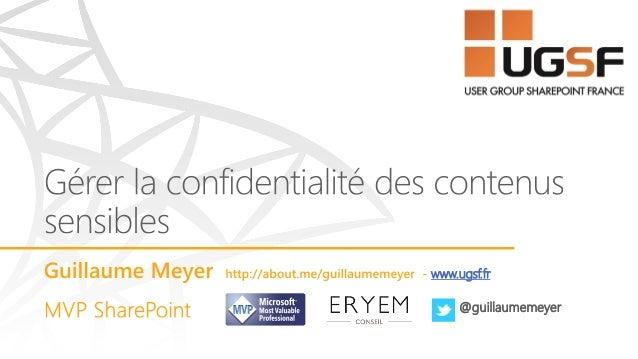 www.ugsf.fr @guillaumemeyer