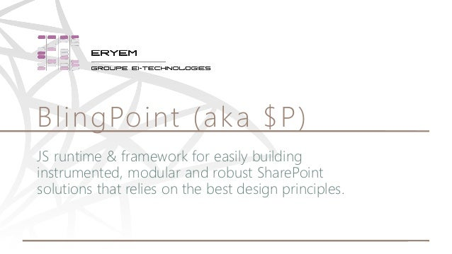 JS runtime & framework for easily building instrumented, modular and robust SharePoint solutions that relies on the best d...