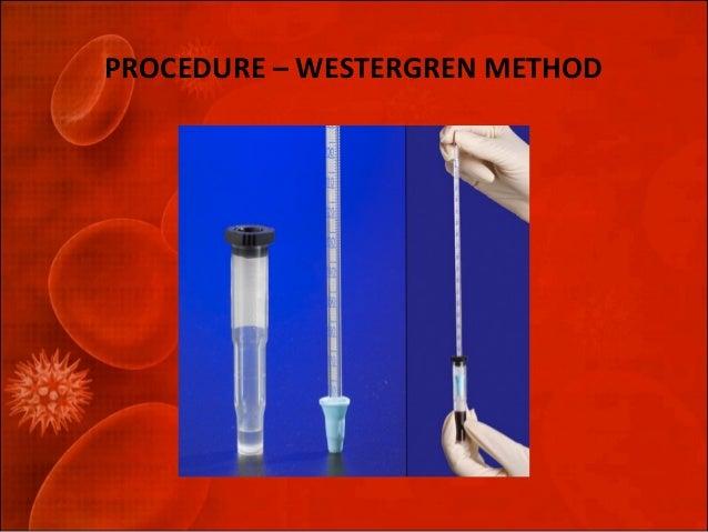 erythrocyte sedimentation rate procedure