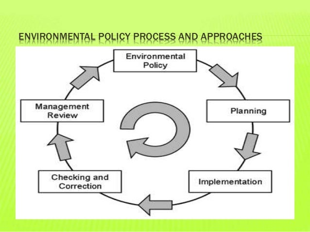 enviornmental policy processes Free essay: environmental policy there's a snake eating my dog the environmental stepwise process is a process people take to implement, assess, and.