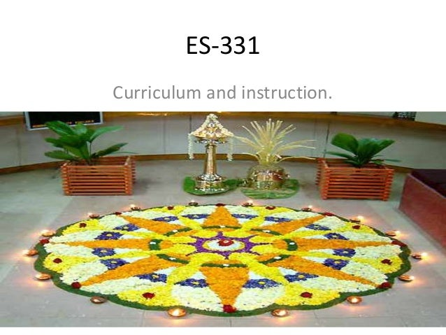 ES-331 Curriculum and instruction.