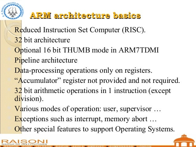 Arm microcontrollers and assembly programming - Processors ...