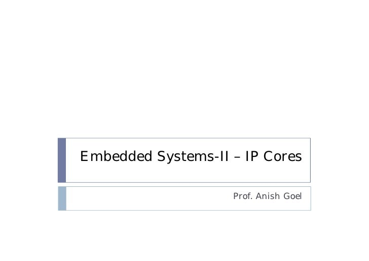 Introduction to Advanced embedded systems course