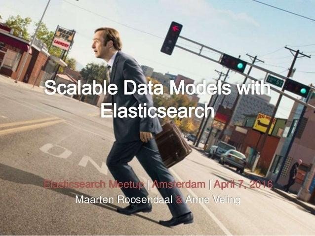Elasticsearch Meetup | Amsterdam | April 7, 2016 Maarten Roosendaal & Anne Veling