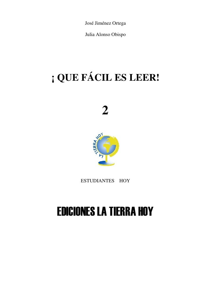 José Jiménez Ortega       Julia Alonso Obispo¡ QUE FÁCIL ES LEER!               2      ESTUDIANTES      HOY EDICIONES LA T...