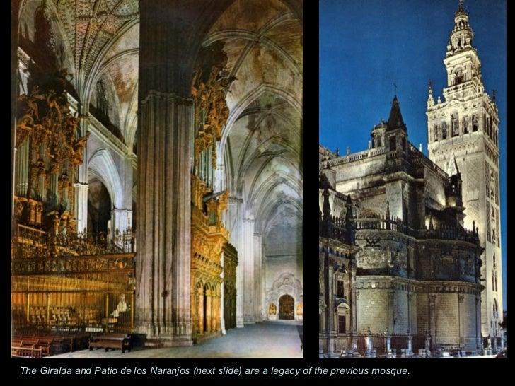 The Giralda and Patio de los Naranjos (next slide) are a legacy of the previous mosque.