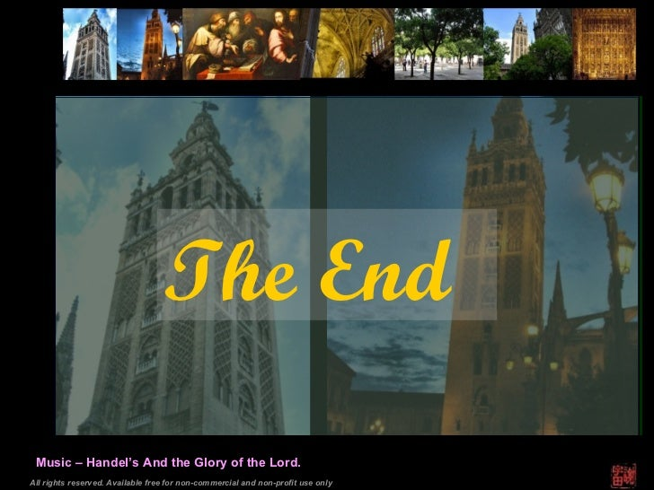 All rights reserved. Available free for non-commercial and non-profit use only Music – Handel's And the Glory of the Lord....