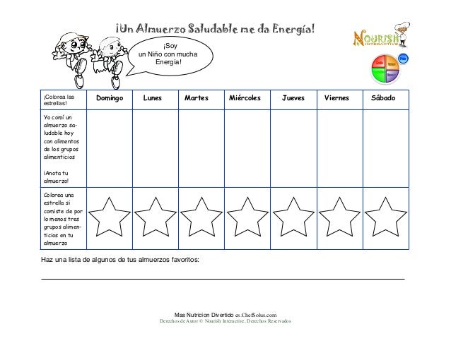 Es Spanish Childrens Lunch Food Diary Printable Kids Write