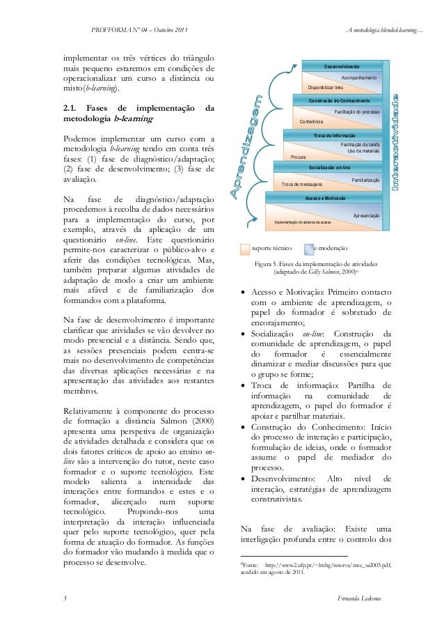 PROFFORMA Nº 04 – Outubro 2011  A metodologia blended-learning…  implementar os três vértices do triângulo mais pequeno es...