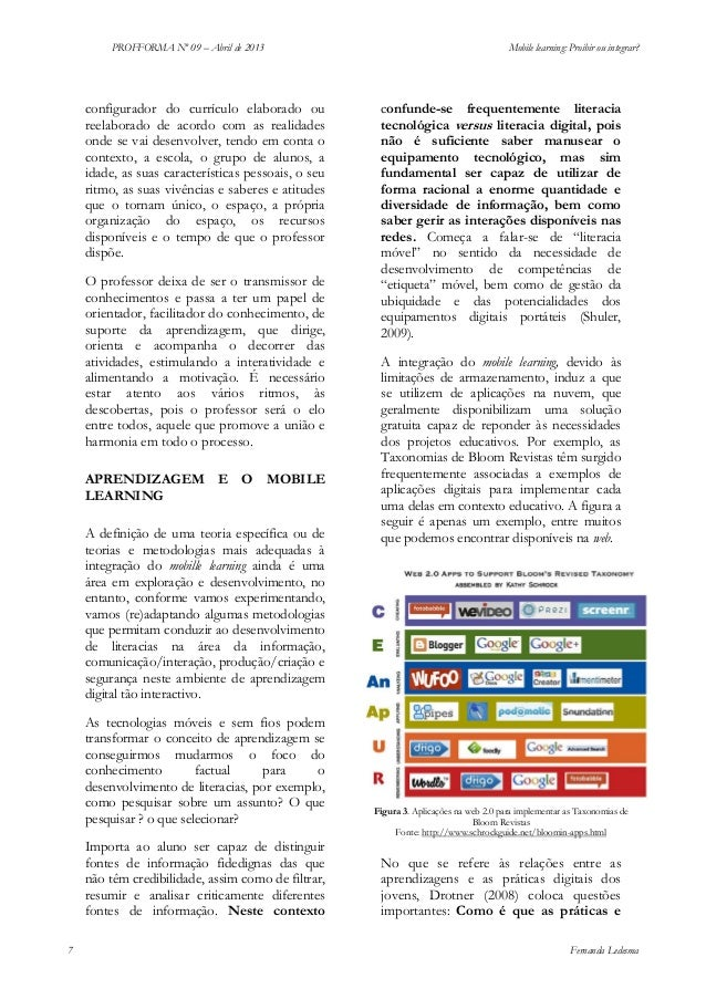 PROFFORMA Nº 09 – Abril de 2013  configurador do currículo elaborado ou reelaborado de acordo com as realidades onde se va...
