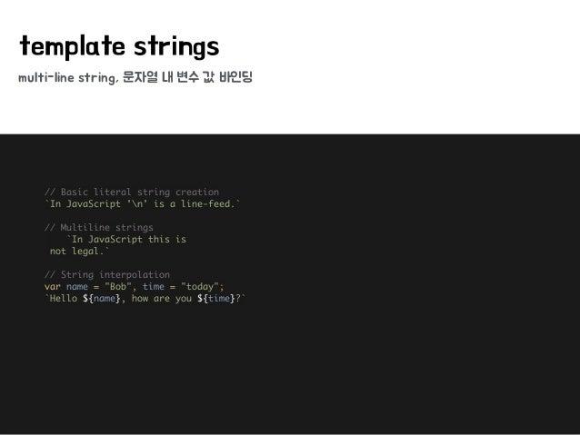 5 multi line string
