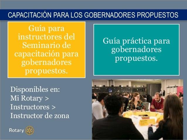 Guía para instructores del Seminario de capacitación para gobernadores propuestos. Guía práctica para gobernadores propues...