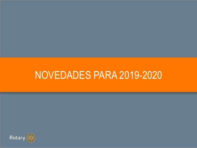 NOVEDADES PARA 2019-2020
