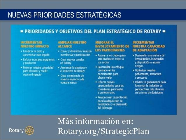 NUEVAS PRIORIDADES ESTRATÉGICAS Más información en: Rotary.org/StrategicPlan