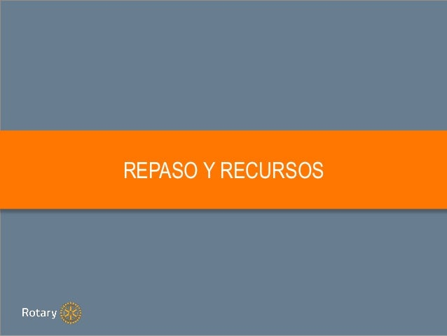 REPASO Y RECURSOS