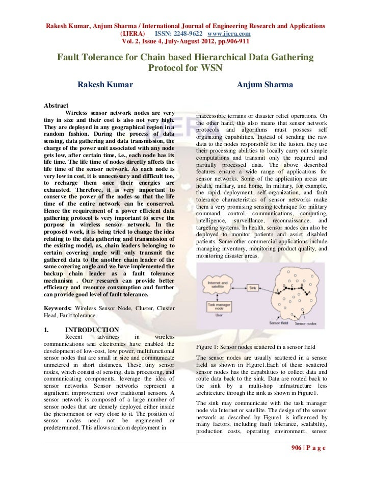 Rakesh Kumar, Anjum Sharma / International Journal of Engineering Research and Applications                      (IJERA) I...