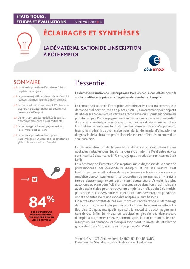 La Dematerialisation De L Inscription A Pole Emploi