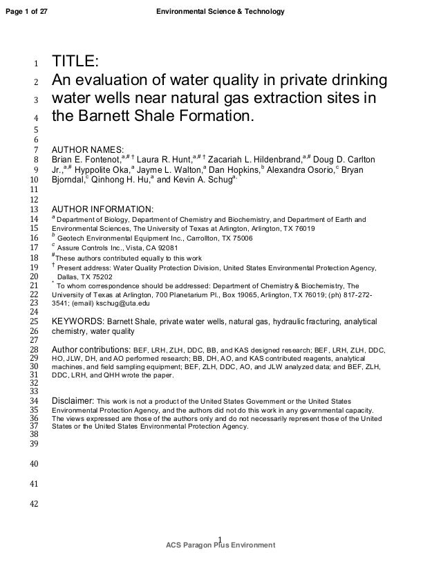 a study of water quality near Specialized training providers a specialized training course is defined as a college level course providing at least 36 contact  water or waste water quality,.