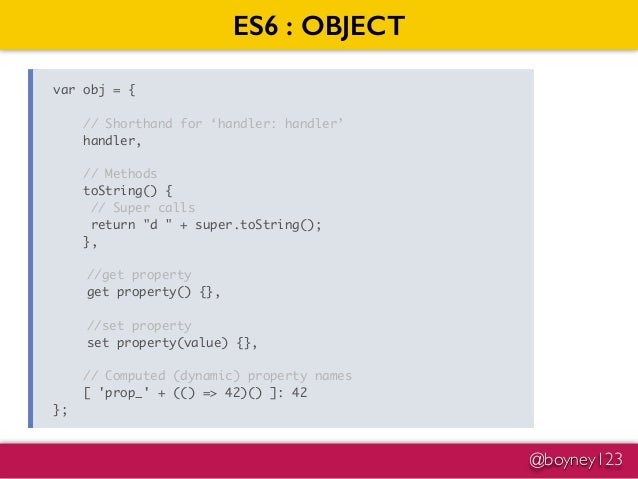 Introduction into ES6 JavaScript