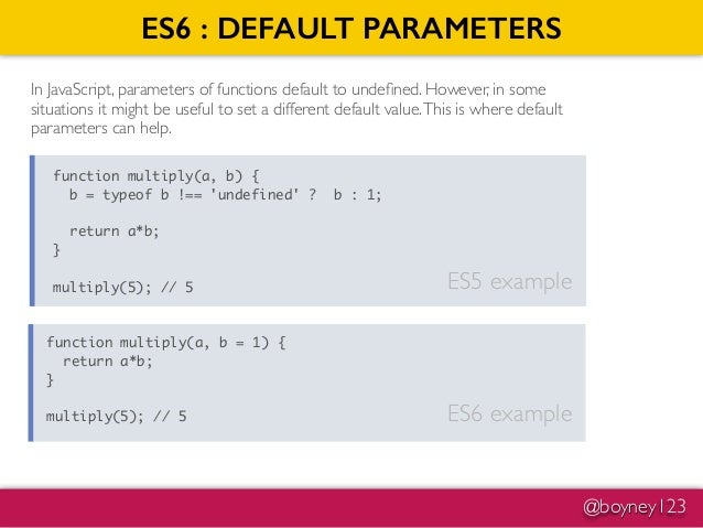 Introduction into ES6 JavaScript