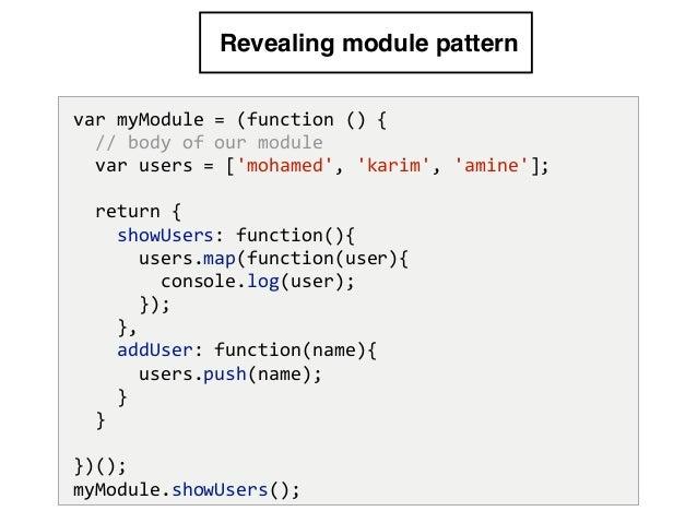 Es40 Modulesandbundlers Amazing Revealing Module Pattern