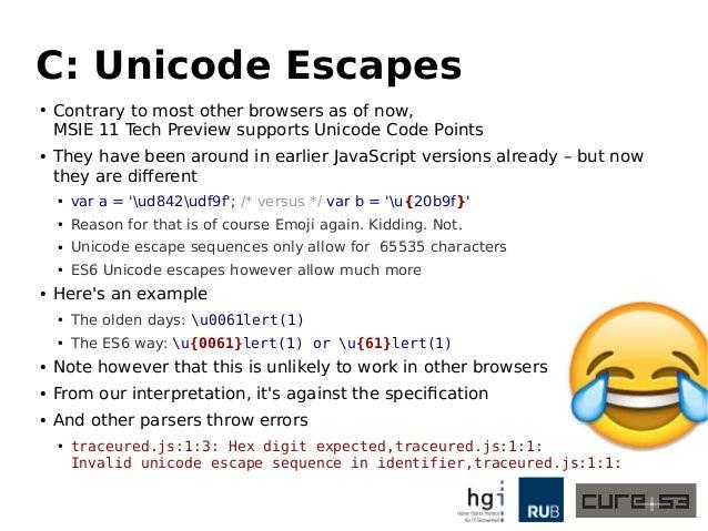 ECMAScript 6 from an Attacker's Perspective - Breaking