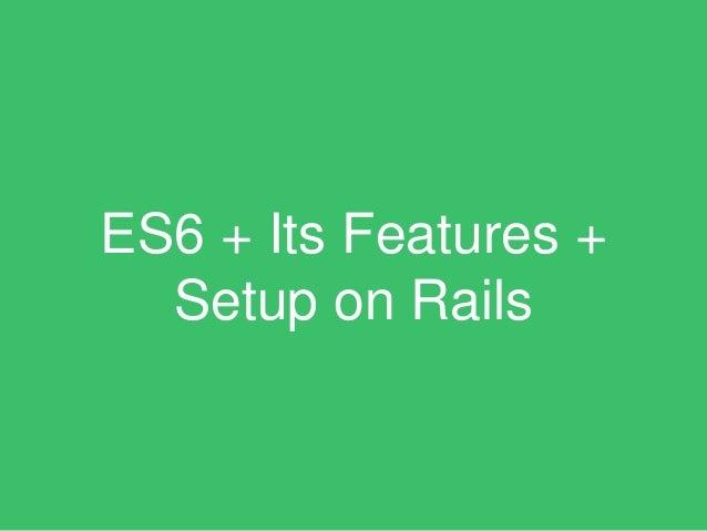 ES6? What is it?