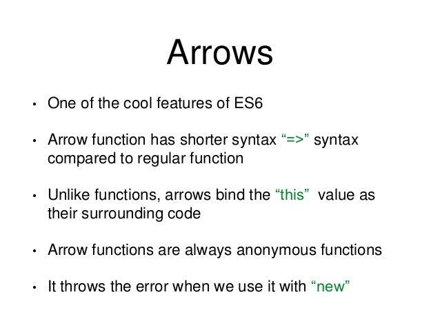 // ES5 var sum = function(num1, num2) { return num1 + num2; }; var evens = [2,4,6,8]; var odds = evens.map(function(v){ re...