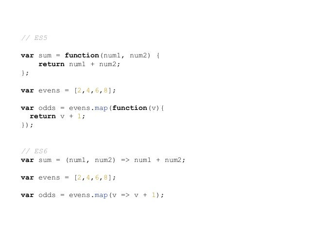 //ES5 var name = 'Tom'; var obj = { name: 'Jerry', sayName: function(){ console.log(this.name); }, greet: function(){ setT...