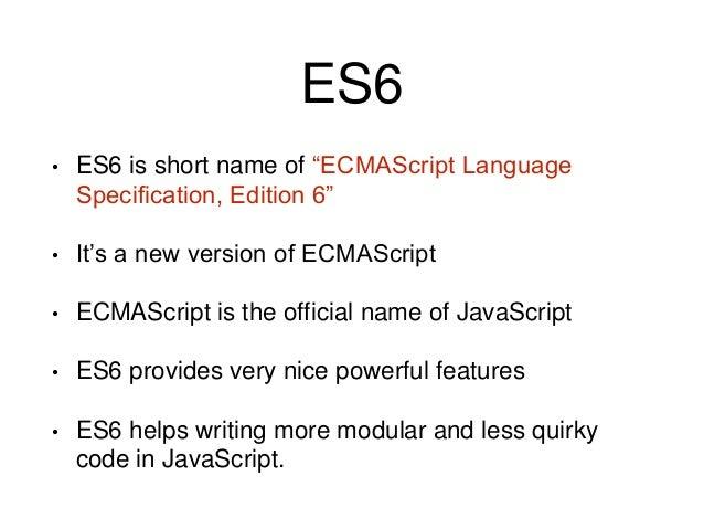 ES6 Features