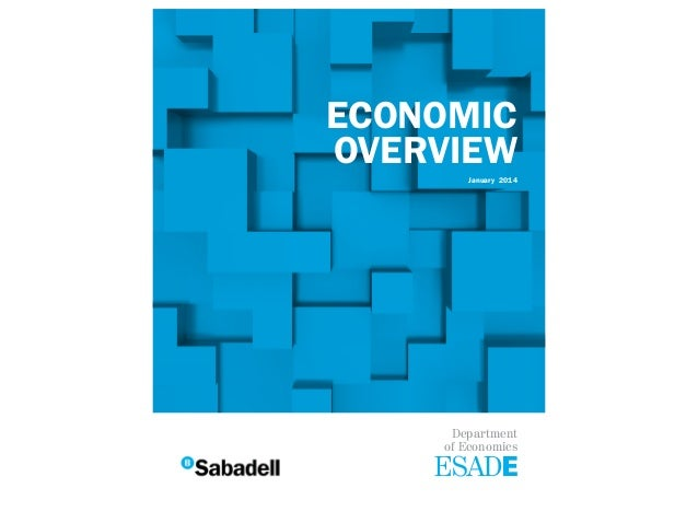 ECONOMIC OVERVIEW January 2014  Department of Economics