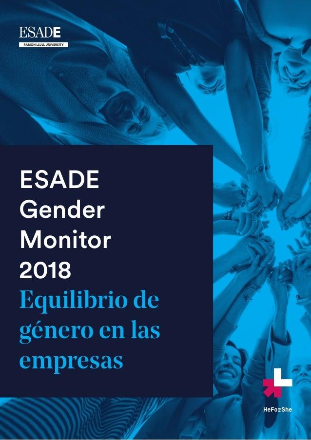 ESADE Gender Monitor 2018 Equilibrio de género en las empresas
