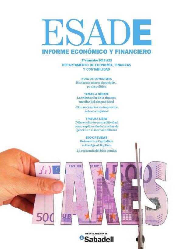 2ºsemestre2018#23INFORMEECONÓMICOYFINANCIERO 2º semestre 2018 #23 DEPARTAMENTO DE ECONOMÍA, FINANZAS Y CONTABILIDAD NOTA D...