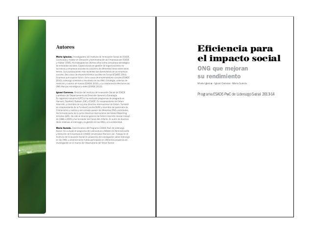 PUBLICACIÓN - Eficiencia para impacto social: ONG que mejoran su rendimiento Slide 2