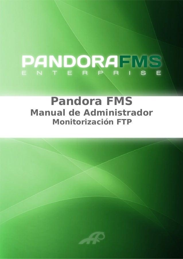 Pandora FMS Manual de Administrador Monitorización FTP