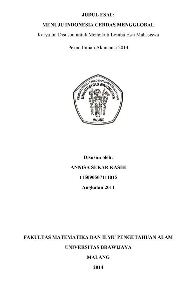 """""""Menuju Indonesia Cerdas Mengglobal""""oleh Annisa Sekar ..."""