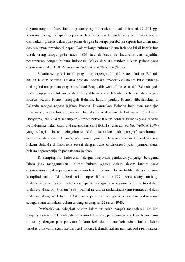 Esai Hukum Indonesia Sistem Hukum Yang Belum Dewasa
