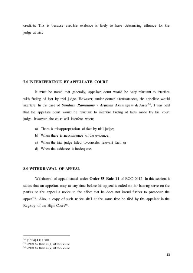 Civil Procedure Procedure Of Filing An Appeal From Subordinate Court