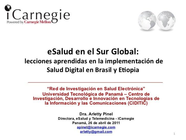eSalud en el Sur Global:   lecciones aprendidas en la implementación de            Salud Digit...