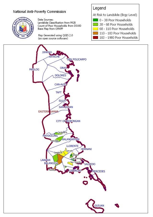 Eastern Samar Landslide Areas