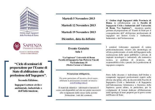 Martedì 5 Novembre 2013 Martedì 12 Novembre 2013 Martedì 19 Novembre 2013 Dicembre, data da definire Evento Gratuito FACOL...