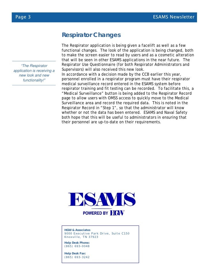 esams newsletter sept 2010