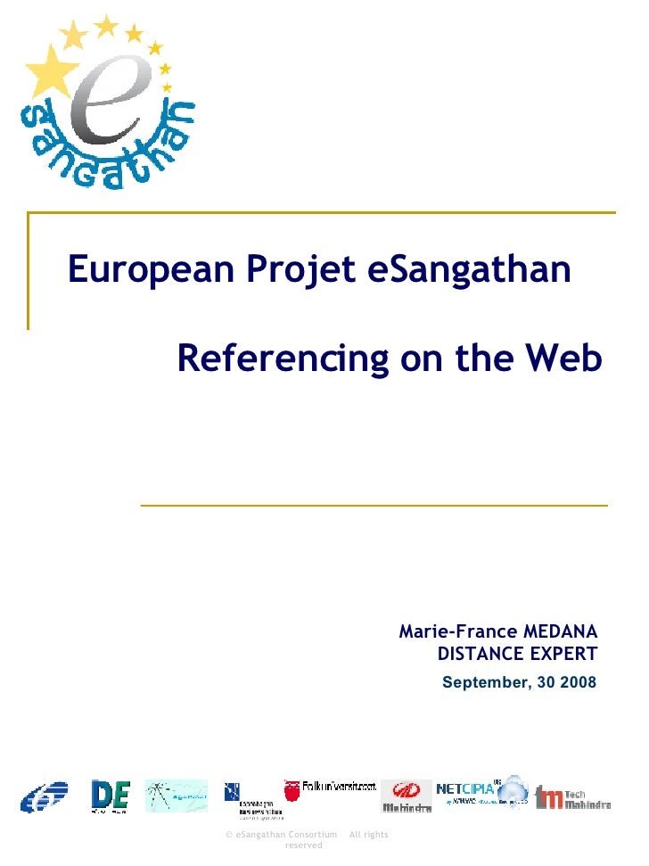 European Projet eSangathan   Referencing on the Web