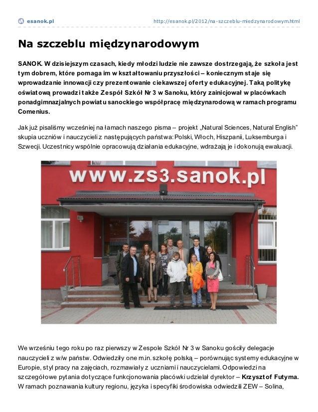 esanok.pl                                   http://esanok.pl/2012/na-szczeblu-miedzynarodowym.htmlNa szczeblu międzynarodo...