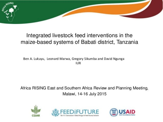 Integrated livestock feed interventions in the maize-based systems of Babati district, Tanzania Africa RISING East and Sou...
