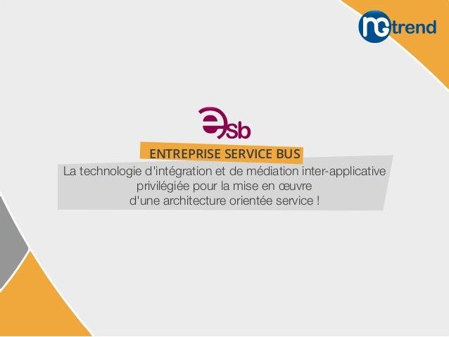 La technologie d'intégration et de médiation inter-applicative privilégiée pour la mise en œuvre d'une architecture orient...