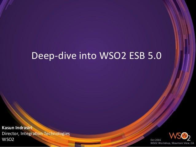 Deep-diveintoWSO2ESB5.0 KasunIndrasiri Director,Integra;onTechnologies WSO2 Oct2016 WSO2Workshop,Mountain...