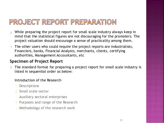 project report format for new business in excel